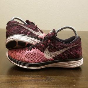 Nike Flyknit Lunar Size 9.5 Pink Black